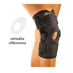 Neoprenowa orteza na kolano z regulacją kąta zgięcia-wciągana. Beżowa/Czarna