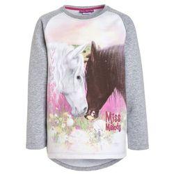 Miss Melody WEIßES UND SCHWARZES PFERD BERÜHREN SICH Bluza light grey melange