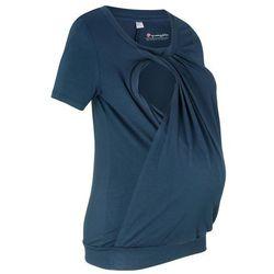 Shirt ciążowy i do karmienia, krótki rękaw bonprix ciemnoniebieski