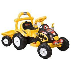 Elektryczny Traktorek + przyczepa ARTI O-KB-6038 żółty - Żółty