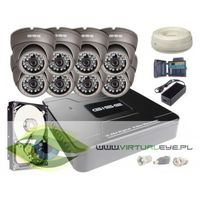 Zestawy monitoringowe, Zestaw AHD, 8x Kamera HD/IR20, Rejestrator 8ch + 1TB