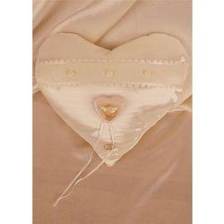Poduszka Mini z pud. na obrączki serce łosoś