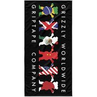 Ręczniki, ręcznik GRIZZLY - Worldwide Tribe Towel Black (BLK) rozmiar: OS