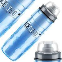 Bidony i koszyki, Bidon 500ml ELITE Ice Fly blue termos niebieski BPA free Przy złożeniu zamówienia do godziny 16 ( od Pon. do Pt., wszystkie metody płatności z wyjątkiem przelewu bankowego), wysyłka odbędzie się tego samego dnia.