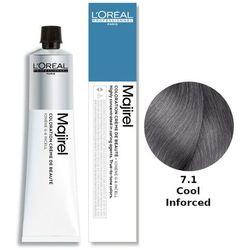 Loreal Majirel Cool Inforced | Ochładzająca kolor trwała farba do włosów - kolor 7.1 50ml