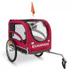 DURAMAXX King Rex Przyczepka rowerowa do przewozu psów 250 l 40k g Rura stalowa czarno-czerwony