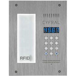 Panel cyfrowy CYFRAL PC-3000RE LM ze integrowaną listą lokatorską i czytnikiem RFiD i wbudowaną elektroniką
