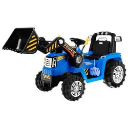 Traktorek koparka dla dzieci na akumulator zp1005 niebieska