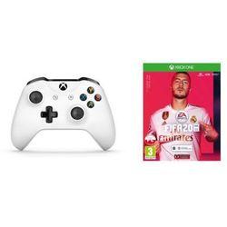 Kontroler bezprzewodowy MICROSOFT TF5-00004 Biały do Xbox One + FIFA 20