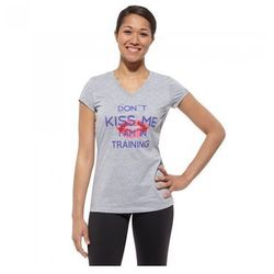 T-Shirt Reebok Kiss Me Tee Z71152 - Szary