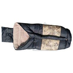 Śpiwór turystyczny kempingowy typu mumia dziecięcy 96x46 brązowy