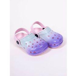 Klapki piankowe kroksy ogrodowe dziewczęce tęczowe niebiesko-fioletowe 32