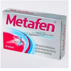 Metafen tabl.powl. 0,2g+0,325g 20tabl.