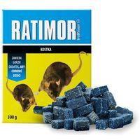 Środki na szkodniki, 300g Trutka na szczury, myszy, gryzonie. Ratimor brodifakum kostka.