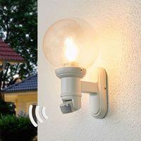 Lampy ścienne, STEINEL L 560 S kinkiet zewnętrzny, czujnik, biały