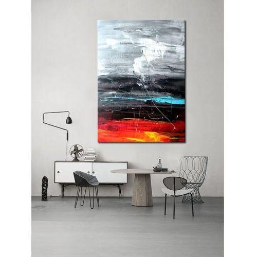 Obrazy, obrazy do salonu - ręcznie malowane - czerwony, biały, czarny, niebieski rabat 15%
