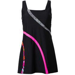 Sukienka kąpielowa wyszczuplająca bonprix czarny w paski