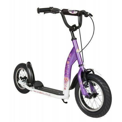 """Hulajnogi, Hulajnoga dla dzieci pompowane koła 12"""" BikeStar kolor lila"""
