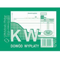 Druki akcydensowe, Dowód wypłaty KW Michalczyk&Prokop 402-5 - A6 (wielokopia)