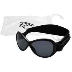 Okulary przeciwsłoneczne,0-2 lat, RETRO BABY BANZ - czarne