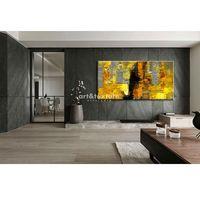 Antyki, Żółto szare złudzenie - abstrakcyjne obrazy do modnego salonu rabat 10%