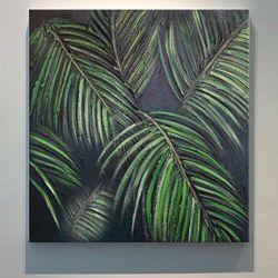 TROPICANA - obrazy z liśćmi tropikalnymi monstera dracena palma modny motyw rabat 35%