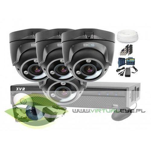 Zestawy monitoringowe, Zestaw do monitoringu: BCS-XVR0401+ 4x Kamera BCS-DMQE3200IR3+ Dysk 1TB + Akcesoria
