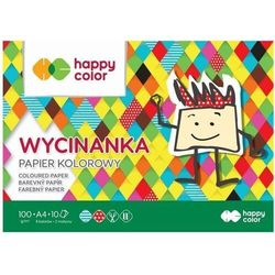 Blok Wycinanka A4/10K 100g HAPPY COLOR