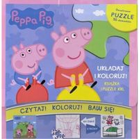 Puzzle, Świnka Peppa. Układaj i koloruj. Zestaw książek + puzzle Praca zbiorowa