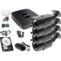 Zestaw do monitoringu: Rejestrator BCS-XVR0401E, 4x Kamera LV-AL60HVT, 1TB, akcesoria