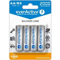 "Akumulatorki, 4x everActive R6/AA Ni-MH 2000 mAh ready to use ""Silver line"""