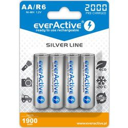 "4x everActive R6/AA Ni-MH 2000 mAh ready to use ""Silver line"""
