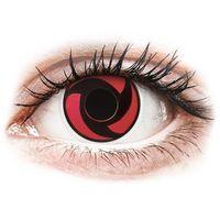 Soczewki kontaktowe, Soczewki kolorowe czerwone MANGEKYU Crazy Lens 2 szt.