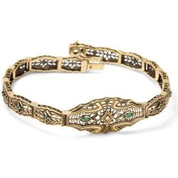 Kolekcja Wiktoriańska -bransoletka z diamentami i szmaragdami