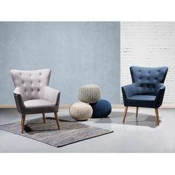 Fotel szary - fotel wypoczynkowy - do salonu - tapicerowany - ANGEN