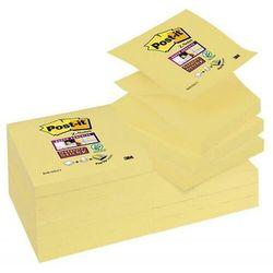 Karteczki POST-IT Super sticky Z-Notes (R330-12SS-CY), 76x76mm, 1x90 kart., żółty