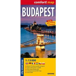 Budapest City Street Map 1:13 000