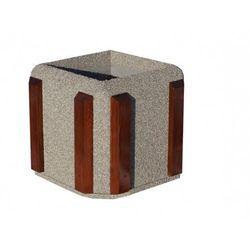 Donica kwadratowa 60x60x60 z listwami