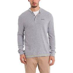 koszulka BENCH - Henley Longsleeve Light Grey Marl Winter (MA1052) rozmiar: M