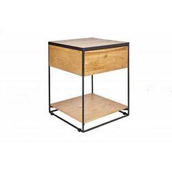 INVICTA stolik nocny SCORPION 40 cm dąb - lite drewno, metal