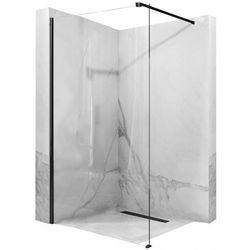 Ścianka prysznicowa, czarny profil 90 cm Aero Black Mat Rea