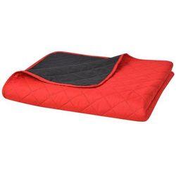 vidaXL Dwustronna, pikowana narzuta na łóżko 230x260 cm, czerwona i czarna Darmowa wysyłka i zwroty