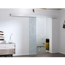 Naścienne drzwi przesuwne HEIDI — 205 × 73 cm (wys. × szer.) — szkło hartowane