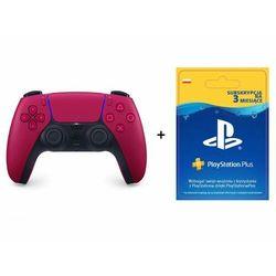 SONY DualSense kontroler czerwony + Playstation Plus 90 dni
