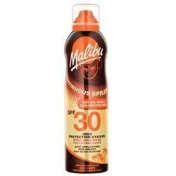 Malibu Continuous Spray Dry Oil SPF30 preparat do opalania ciała 175 ml dla kobiet