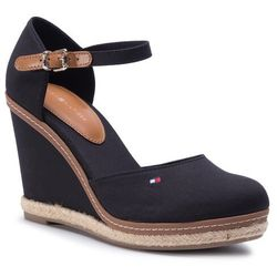 Espadryle TOMMY HILFIGER - Iconic Basic Closed Toe Wedge FW0FW02791 BLK 990