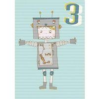 Pozostałe artykuły szkolne, Karnet B6 z kopertą Urodziny 3 chłopiec