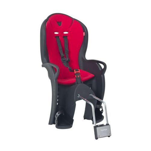 Foteliki rowerowe, Fotelik rowerowy Hamax KISS czarny, czerwona wyściółka