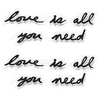"""Pozostały wystrój ścian, UMBRA - Dekoracja ścienna, napis """"love is all you need"""""""