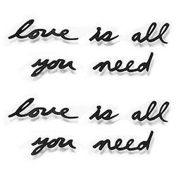 """UMBRA - Dekoracja ścienna, napis """"love is all you need"""""""